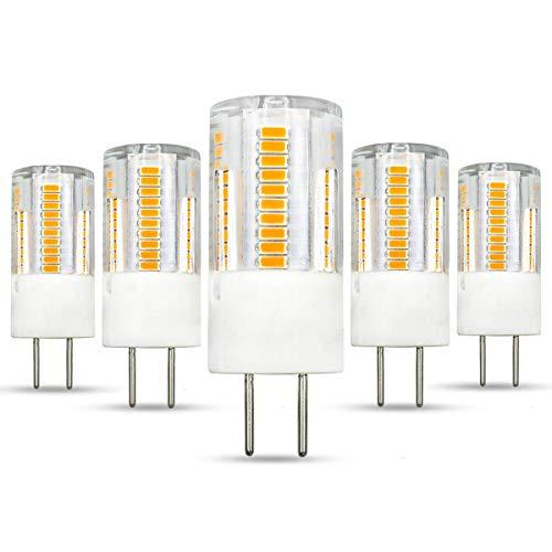 GY6.35 2,5W Unterbau-Schreibtisch LED-Glühbirne nicht dimmbar AC/DC12V Warmweiß 3000K ersetzt 30W Halogenlampe für Laden Büro Studio Restaurant -5er Pack [MOREWEG].