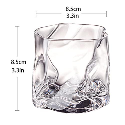 Set di vetro trasparente colorato 2 pezzi 9,8 oz vetro senza piombo adatto per whisky coffee building tazza di bevande miscelate