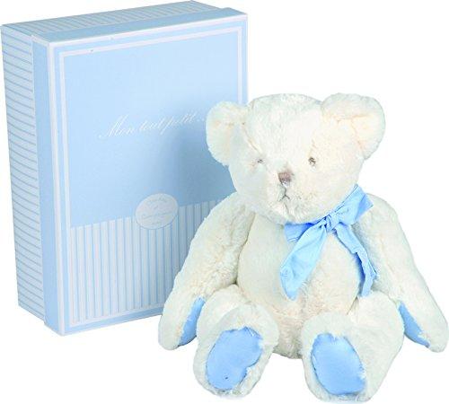 Doudou et Compagnie - Peluche Ours - 45 cm - Bleu - Cadeaux Naissance - Mon Tout Petit - DC2344