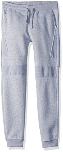 Southpole Active Basic Jogger Fleece Pants Pantalones Deportivos, Heather Grey (Moto), 46 para Niños