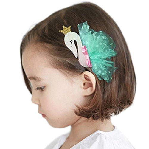 K-youth® con clip de pinza, 1 pc pinzas para el cabello niñas encaje cisne pelo hebilla horquilla hairgrip tocado