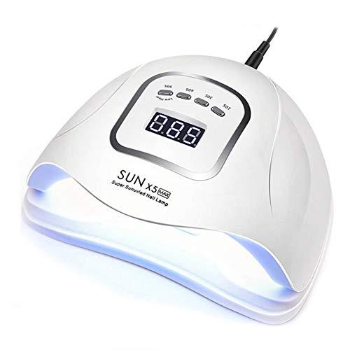 Lámpara Led Uñas UV LED 120W Curado de Esmalte de Gel Secador de Uñas Rápido con Función de Temporización 10S 30S 60S 99S, Secador de Uñas para Nail Art Hogar el Salón