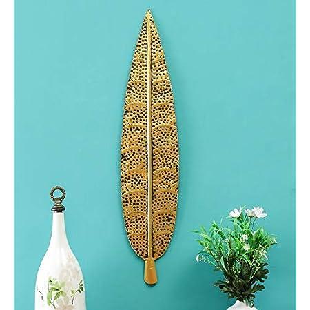 KAPTOWN KREATIONS Golden Hem Leaf Metal Decorative Wall Art/Wall Decor/Office Décor/Home Decor/Best Decorative Product