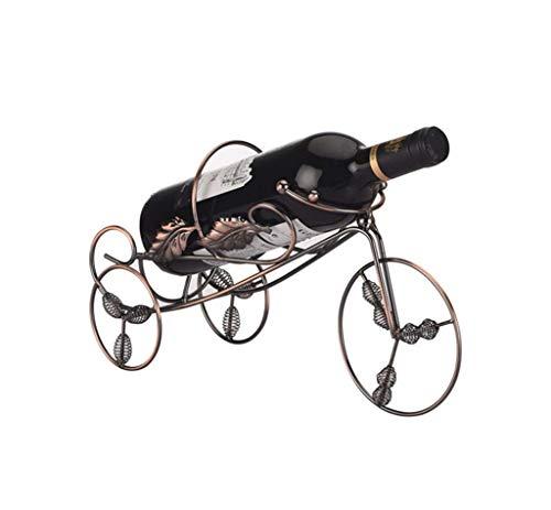 KELITINAus Eisen-Kunst-Tricycle Weinregal Weinklimaschrank Ausstellungsstand Wohnzimmer Weinflasche Rack Rack
