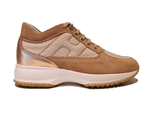 Hogan Interactive Damen Woman Shoes Sneaker Schuhe Lederschuh Leather Beige - Puder - Größe: 38.5 EU