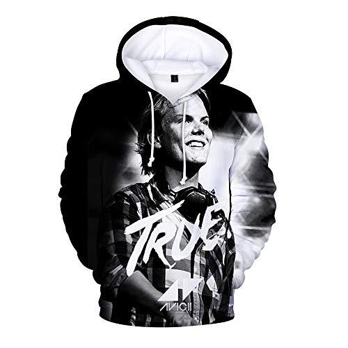 HEAIMONLA DJ Avicii Pullover Frauen der Männer Hoody Printed Pullover-lose Unisex 3D Hoodie beiläufige im Freien Sweatshirt Unisex (Color : A05, Size : Height-170cm(Tag M))