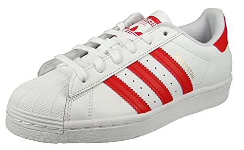 adidas Superstar, Zapatillas Deportivas Hombre, FTWR White Vivid Red Gold Met, 36 EU