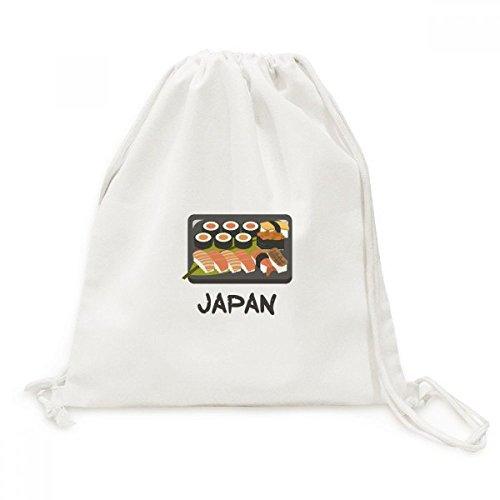 DIYthinker Traditionele Japanse Sushi Box Canvas Trekkoord Rugzak Reizen Shopping Tassen