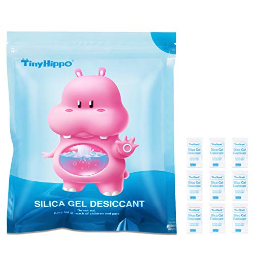 TinyHippo [ 320 Packs ] 0.5 Gram Silica Gel Packets for Moisture, Food Safe Small Desiccant Bags for Spices Jewelry Seed Ammo Storage