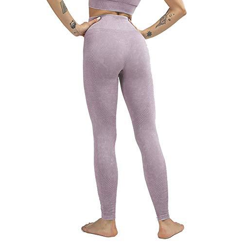 NCTCITY Yoga Leggins Push up Mallas Pantalones Deportivos Leggings Reducir Vientre Elásticos Transpirables Pantalón Impresión Lavada para Fitness Gym Pilates