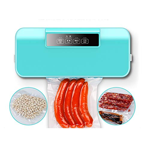 LoveIyPet Vacuum Sealer, Automatic Food Packing Machine with 10 Textured Bag Best for Household Fresh Dry Moist Food Mode, Blue