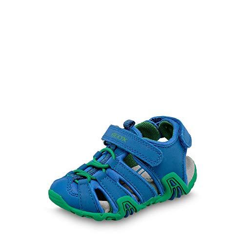 Geox Jungen Sandalen Sandaletten B Sandal Kraze Royalblau Grün 27 EU