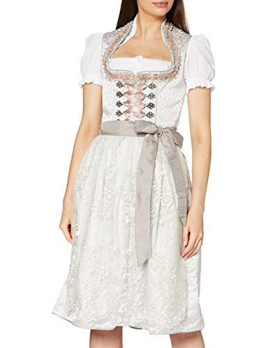 Stockerpoint Damen Dirndl Xenia Kleid für besondere Anlässe, Creme, 48