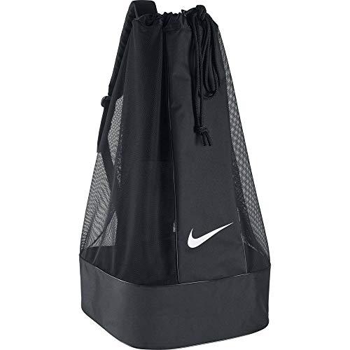 Nike Club Team Swoosh Soccer Ball Bag - Black/Black/White, 86 x 47 x 47 cm,...