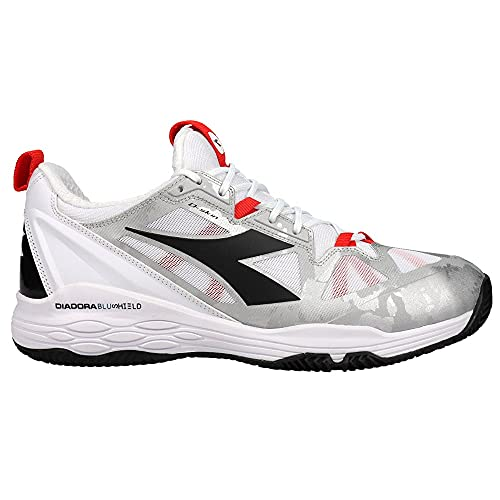 Diadora Womens Speed Blushield Fly 2 + Clay Tennis Sneakers Shoes Casual - White - Size 10.5 B