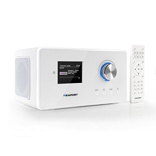 Blaupunkt IRD 300 Wlan Internet Radio, DAB+, Bluetooth, UKW-Empfang, Küchen- oder Büroradio, Radiowecker und Uhrenradio, Farb-Display mit App-Funktion, Miniradio inkl. Fernbedienung IRD 300 WH, weiß