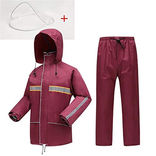 Dames Split Type Lichtgewicht Regenjas Waterdichte Hooded Regen 2 Stuks Regenkleding Set Goed voor Outdoor Sport, Reizen, Fietsen, Wandelen Verkrijgbaar in een verscheidenheid van maten