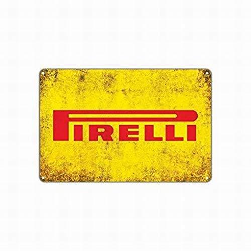 Fluse Pirelli Tires Metallo Vintage Art Chic Retro in Metallo Tin Sign 8x12 Pollici Metal Signs