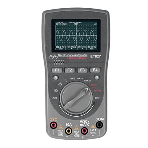 Multímetro del osciloscopio digital ET827 2 en 1 forma de onda Multímetro inteligente gris
