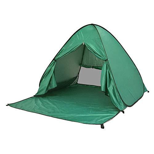 ZLOP Tienda de campaña de protección UV, tienda de playa, tienda de campaña para exteriores, portátil, protección UV, tienda de playa para familia, playa, jardín, camping (1 unidad, verde)