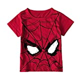 Camiseta de manga corta para hombre y niño con estampado de Spiderman Superman Print Baby Boy Girl Kids Summer Top Clothes Casual T-shirt Top Top para hombre (color: Zhi T R, tamaño de niño: 12 m)