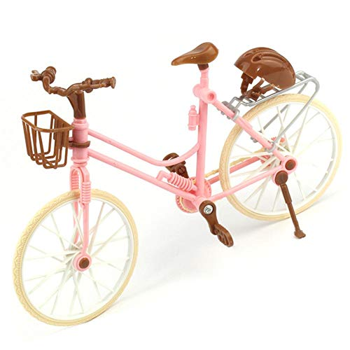 iBaste_top Mini-Fahrradmodell Mini Fahrrad Modell Spielzeug mit Korb und Schutzkappe Kinder Puppenzubehör Kleines Geschenk für Radfahrer
