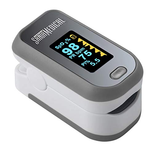 Finger Pulse Oximeter, (SpO2) Blood Oxygen Saturation Monitor with Pulse Rate Measurements and Pulse Bar Graph, Digital Reading LED Display