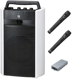 TOA デジタルワイヤレスアンプ(SD/USB/CD機能付き)・ワイヤレスマイクセット WA-2800SC×1 WTU-1820×1 WM-1220×2 ダイバシティ