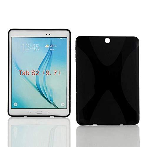 Schutzhülle für Samsung Galaxy Tab S2 9.7 SM-T810 T811 T813 T815 T819 9.7 Zoll Smart Slim Case Book Cover Stand Flip S 2 (Schwarz)