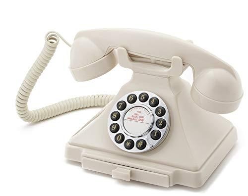 GPO Carrington Teléfono de Botones Retro - Bandeja extraíble, Timbre Tradicional auténtico - Marfil