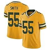 WQJIE Packers No.55 SmithTop, Maillot de Rugby Original pour Hommes, Vacances de Noël X-Mas The Movie Men's-XXXL