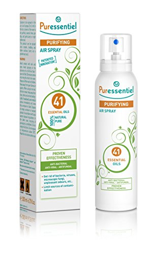 Puressentiel Purifying Air Spray 200 ml - Patented formula - Air & surfaces - 100% natural origin and fragrance - Pure essential oils - Propellant gas and aerosol free - Home, office, car