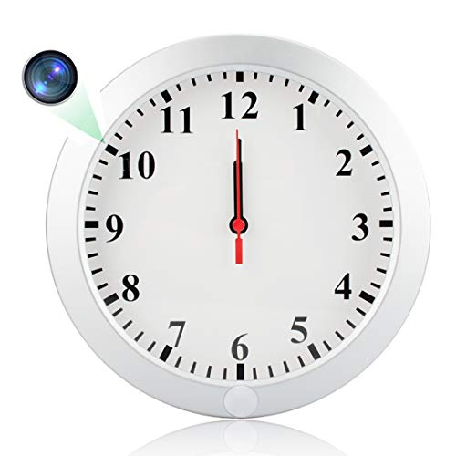 Poetele Upgraded HD 1080P WiFi Hidden Spy Wall Clock Camera, Real-time Video Remote View on Your Phone Support iOS/Android/PC,Nanny Cam for Home Security