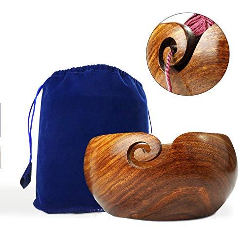 Stitch Happy handgefertigte Woll-Schale, extragroß, aus Holz, mit elegantem Design