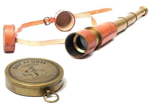 Royal de Collection Combo Lot de télescopes et Boussole Nautique Cadeau