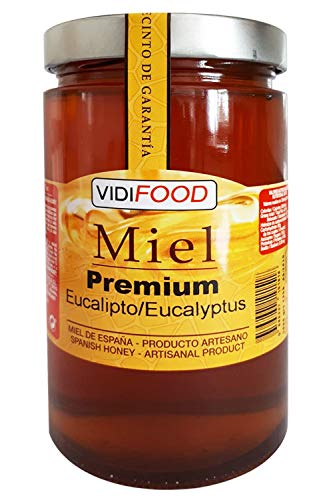 VidiFood Miel de Eucalipto Premium, Amaderado Intenso - 1kg