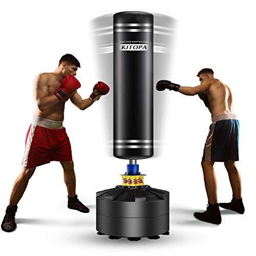 Adult Free Standing Punch Bag, Heavy Punching Bag Stand with Suction Cup...
