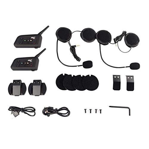 GaoF Sistema de comunicación inalámbrico de la Motocicleta de los Auriculares Bluetooth del intercomunicador del Casco de la Motocicleta del fútbol