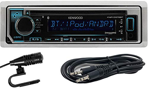 Kenwood KMR-D372BT Marine Single-Din In-Dash CD Receiver With Bluetooth, SiriusXM Ready and EMB 3.5mm Aux Cable