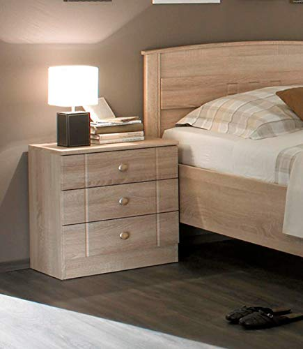 Nachttisch 3 Schubladen Eiche Sonoma Dekor