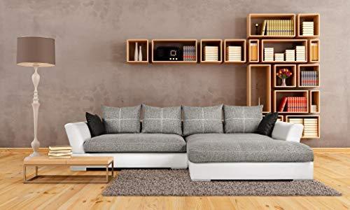 Reboz Big Sofa hoekbank bank woonlandschap wit lichtgrijs Hoek. rechts grijs