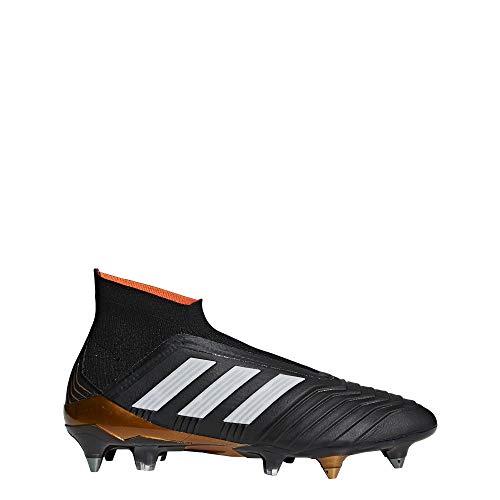 adidas Predator 18 SG, Scarpe da Calcio Uomo, Nero (Cblack/Ftwwht/Solred Cblack/Ftwwht/Solred), 44 EU