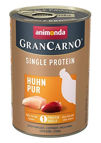 animonda Gran Carno adult Single Protein Hundefutter, Nassfutter für ausgewachsene Hunde, Huhn pur, 6 x 400 g, 6er Pack (6 x 0.4 kilograms)