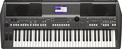 Yamaha PSR-S670 Digital-Tastatur – Performance-Instrument für Profis und Live-Musik-Bühnen, 61 berührungsempfindliche Tasten, Schwarz