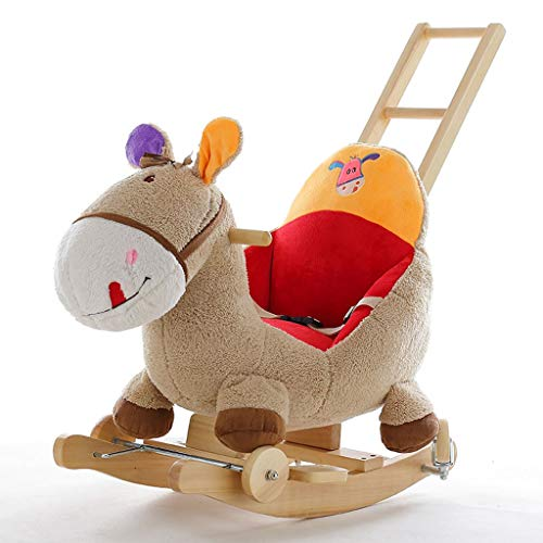 Cheval à Bascule âne Musique pour Enfants Jouets bébé Bébé Petit Cheval en Bois a secoué Son Cadeau d'anniversaire de Voiture