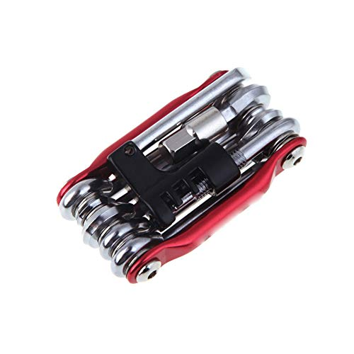 Multi-función de reparación de Bicicletas Juego de Herramientas para Bicicletas Multiherramienta Torx Hex y Cadena de Herramientas Red 1PC