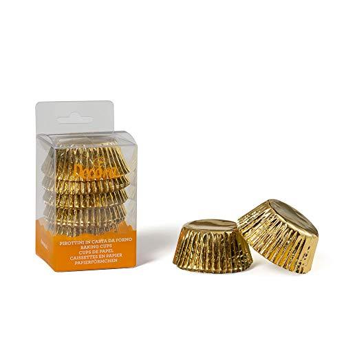 Decora 0339791 Paquet 60 CAISSETTES Or 50 X 32 MM, Paper, doré, 30 x 5 x 3,2 cm