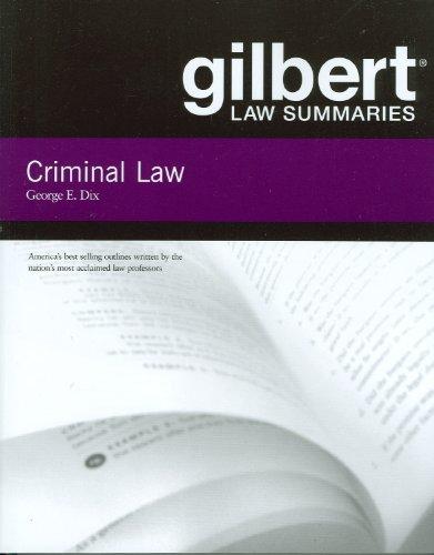 Criminal Law (Gilbert Law Summaries)