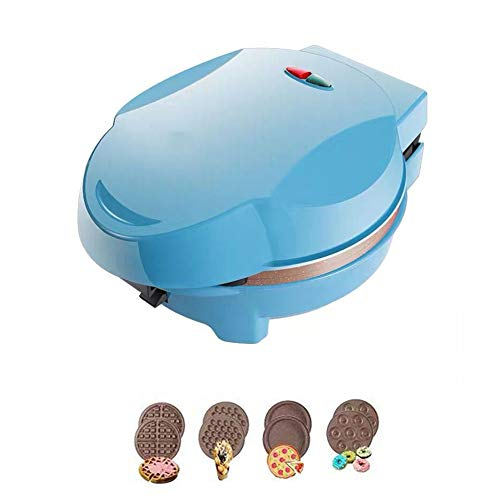 FSGD Gofrera, Moldes para Magdalenas, Donuts y Gofres, Placas de Recubrimiento Profundo Antiadherente, Control Automático de Temperatura,Azul