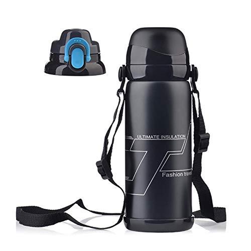 BWBWD Thermoskanne 800 ML Termos reisesport Wasserflasche Thermobecher Edelstahl Isolierflaschen Becher Isolierbecher Thermoskanne tepmoc thermocup